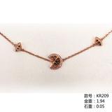 18K金钻石手链KR209