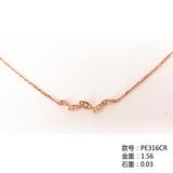18K金钻石手链PE316CR