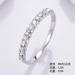排钻款18K金小清新钻石戒指RM53228