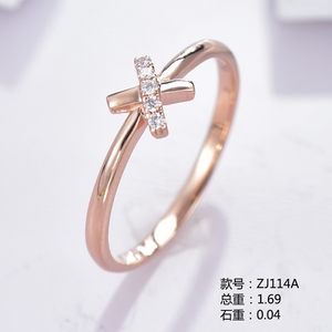 小清新18K金钻石戒指ZJ114A
