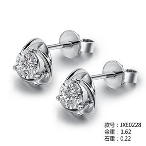 爱情城堡 邂逅18K金钻石耳饰JXE0228