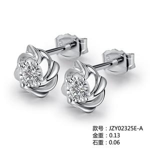 爱情城堡 悸动18K金钻石耳饰JZY02325E-A