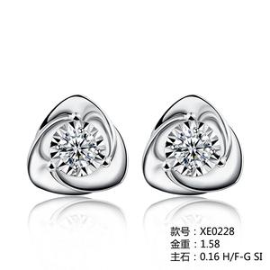 爱情城堡 18K金钻石耳饰车花款XE0228